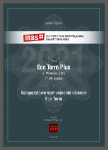 Certyfikat EcoTerm_plus